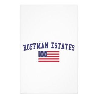 Hoffman Estates US Flag Stationery