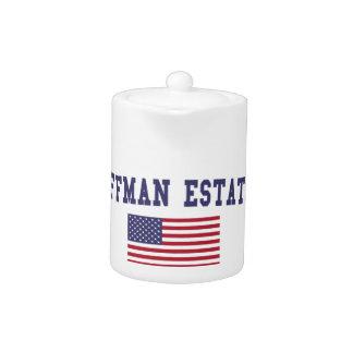 Hoffman Estates US Flag Teapot