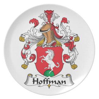Hoffman Family Crest Dinner Plates