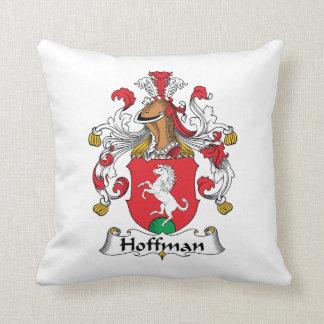 Hoffman Family Crest Throw Pillow