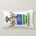 Hoffmann Family Crest Throw Pillow
