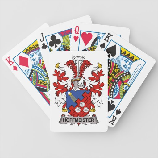 Hoffmeister Family Crest Deck Of Cards