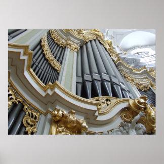 Hofkirche Germany Pipe Organ Poster