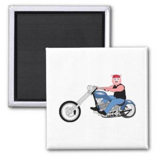 Hog biker 2 inch square magnet