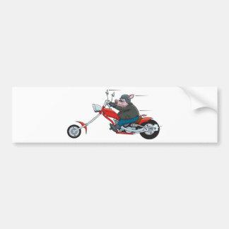 Hog Biker Bumper Sticker