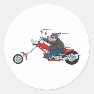 Hog Biker Classic Round Sticker