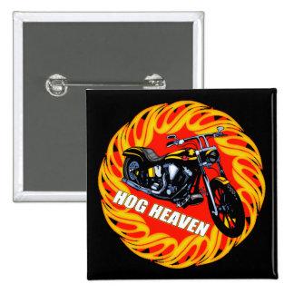 Hog Heaven Biker T shirts Gifts Button