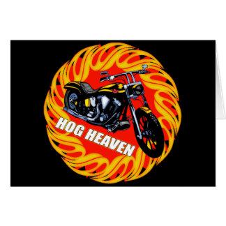 Hog Heaven Biker T shirts Gifts Card