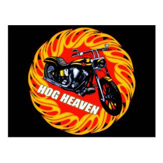 Hog Heaven Biker T shirts Gifts Postcard