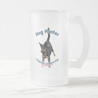 Hog Hunter Catahoula Dog 16 Oz Frosted Glass Beer Mug
