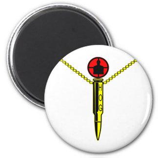 HOG Hunter Of Gunmen (Sniper) 2 Inch Round Magnet