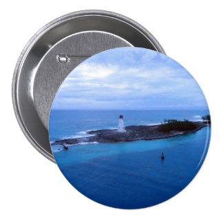 Hog Island Light 3 Inch Round Button
