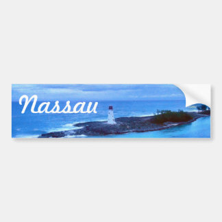 Hog Island Light Travel Nassau Bumper Sticker