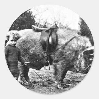 Hog Rider Classic Round Sticker