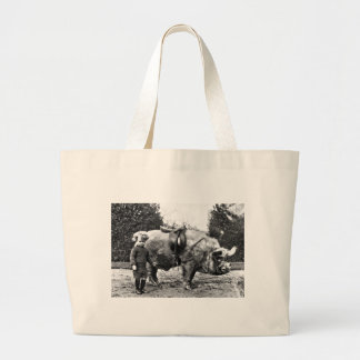 Hog Rider Large Tote Bag
