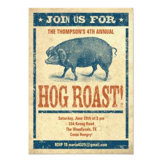 """Hog Roast Invitations 5"""" X 7"""" Invitation Card"""