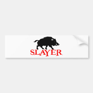 HOG SLAYER CAR BUMPER STICKER