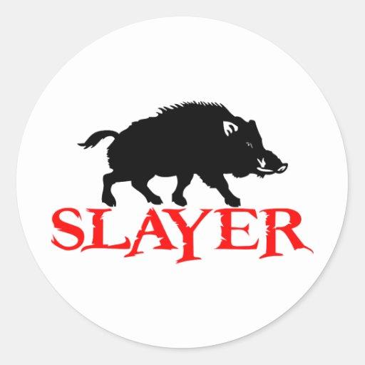 HOG SLAYER CLASSIC ROUND STICKER
