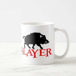 HOG SLAYER CLASSIC WHITE COFFEE MUG