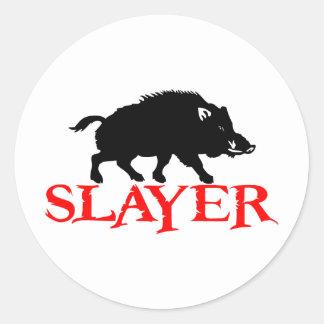 HOG SLAYER ROUND STICKER