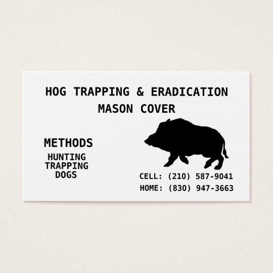 HOG TRAPPING & ERADICATION BUSINESS CARD