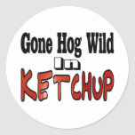 Hog Wild Ketchup Stickers