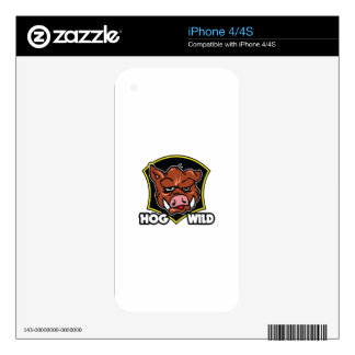 HOG WILD DECAL FOR THE iPhone 4