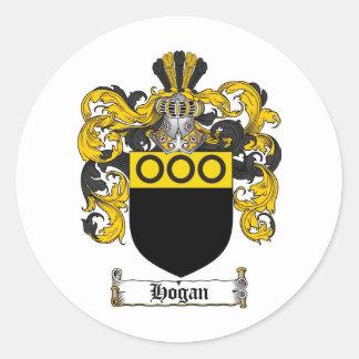 HOGAN FAMILY CREST -  HOGAN COAT OF ARMS CLASSIC ROUND STICKER