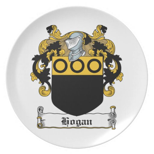 Hogan Family Crest Party Plates
