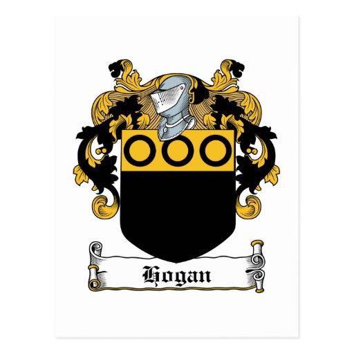 Hogan Family Crest Postcard