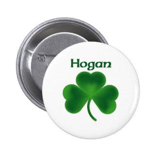 Hogan Shamrock Pinback Button