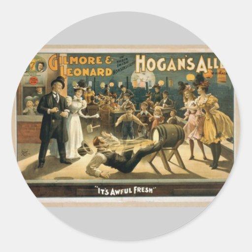 Hogan's Alley, 'It's Awful Fresh' Retro Theater Classic Round Sticker