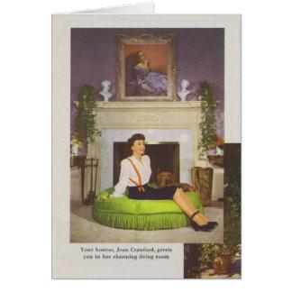 Hogar 1944 de Joan Crawford Brentwood Tarjeta De Felicitación
