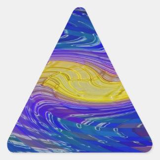 hogar abstracto moderno de la oficina de las calcomania de trianguladas