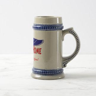 Hogar agradable de los militares jarra de cerveza