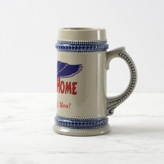 Hogar agradable de los militares tazas de café