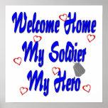Hogar agradable mi soldado mi héroe poster