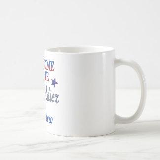 Hogar agradable mi soldado mi héroe taza de café
