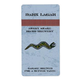 Hogar azteca de la serpiente hecho etiquetas de la etiquetas de envío