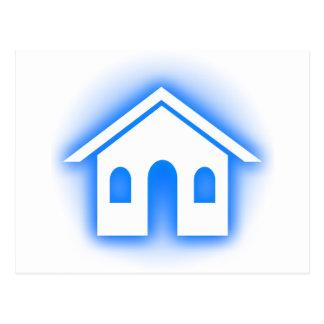 hogar azul del resplandor postales