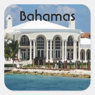 Hogar bahamés calcomanía cuadradas personalizadas