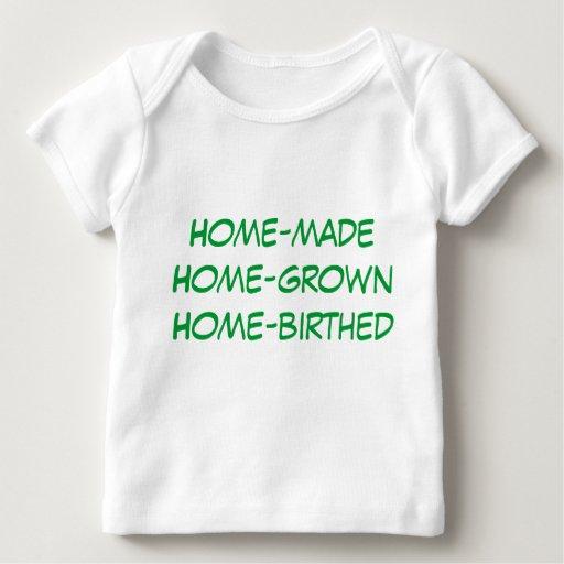 hogar-birthed de cosecha propia playera de bebé