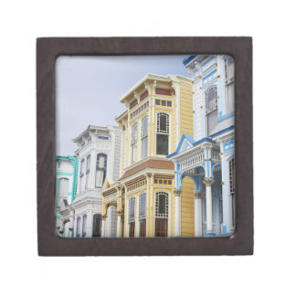hogar colorido del Victorian en distrito de la mis Caja De Recuerdo De Calidad