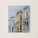 hogar colorido del Victorian en distrito de la mis Rompecabeza