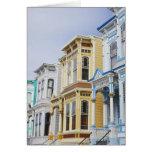 hogar colorido del Victorian en distrito de la mis Felicitación