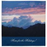 Hogar crepuscular de la puesta del sol de las serv servilleta de papel