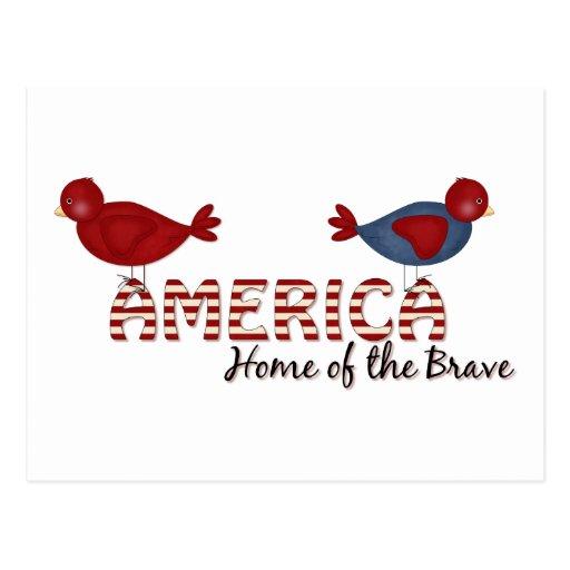 hogar de América del valiente Tarjeta Postal