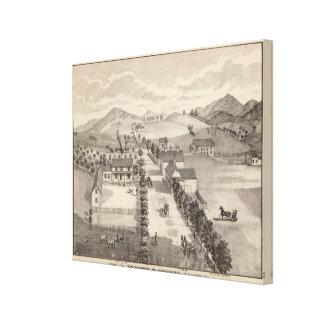 Hogar de Benjamin R Greeno en Rutland Impresiones De Lienzo