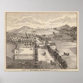 Hogar de Benjamin R Greeno en Rutland Póster