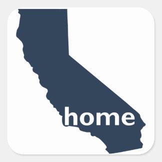 Hogar de California Pegatina Cuadrada